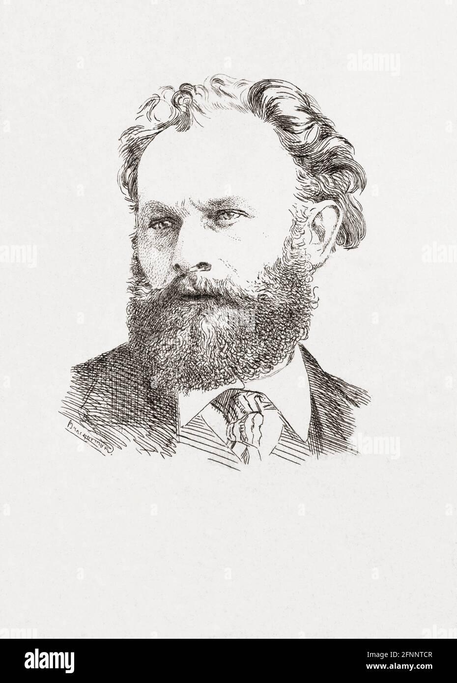 Édouard Manet, 1832 - 1883.  French artist.  After a work by Felix Bracquemond. Stock Photo