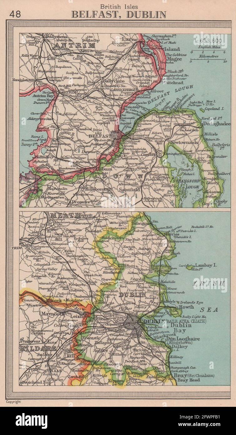 Vintage image of Sullivan/'s Dublin Guide book.