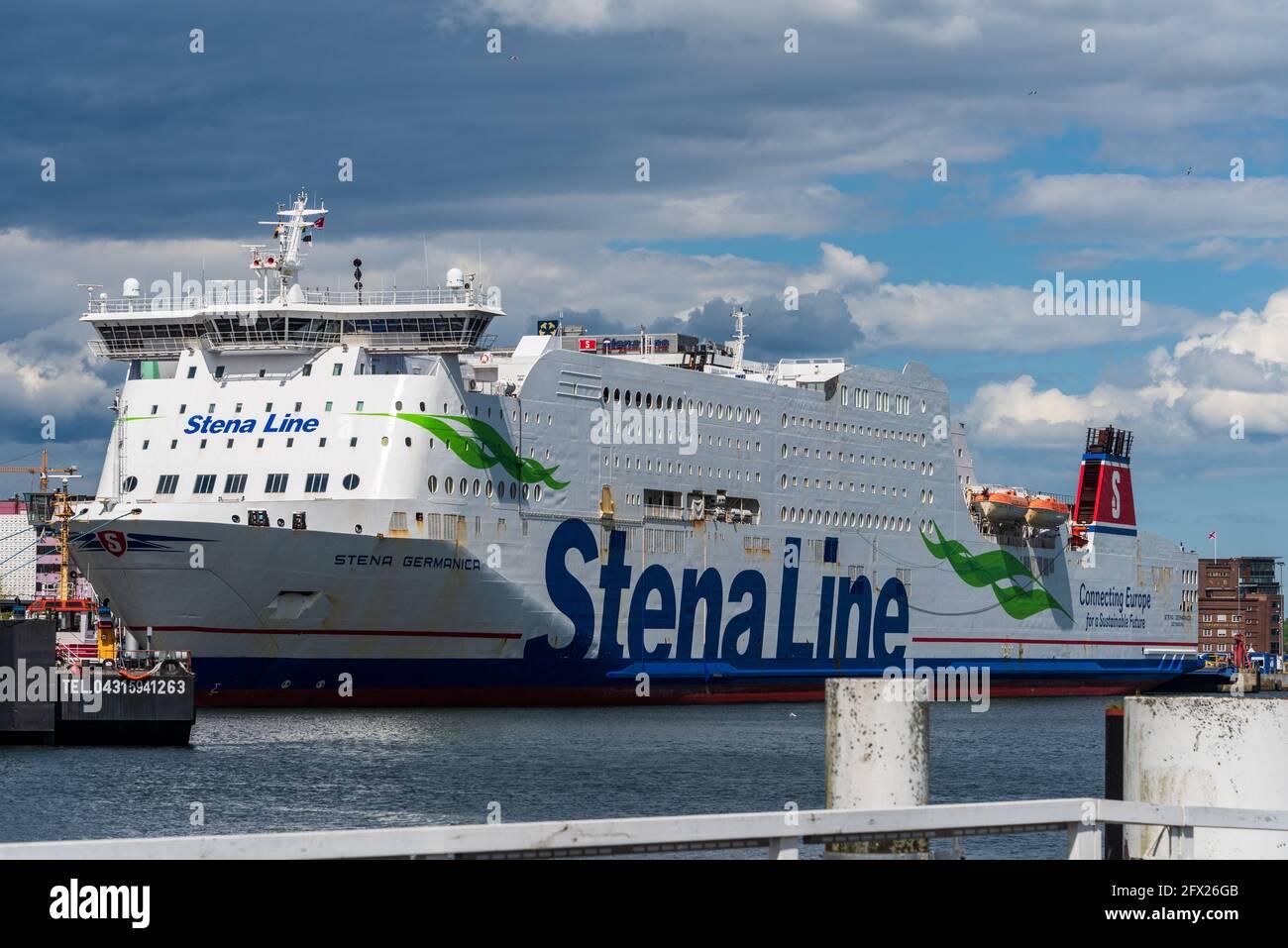 Die Schwedenfähre Stena Germanica an ihrem Liegeplatz am Schwedenkai im Kieler Hafen Stock Photo