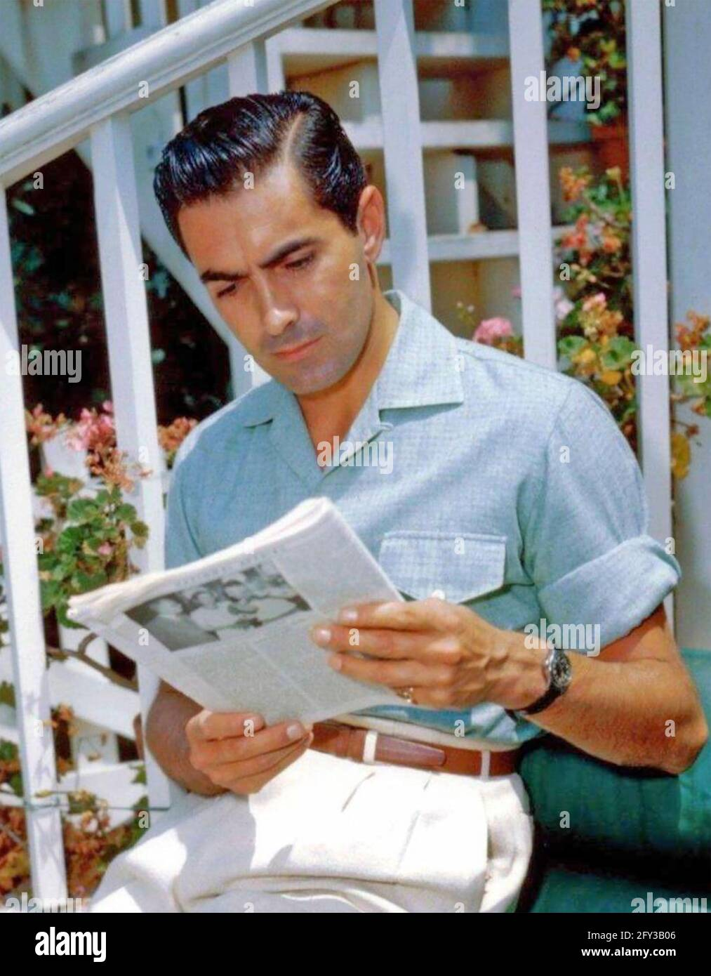 TYRONE POWER (1914-1958) American film actor about  1945 Stock Photo