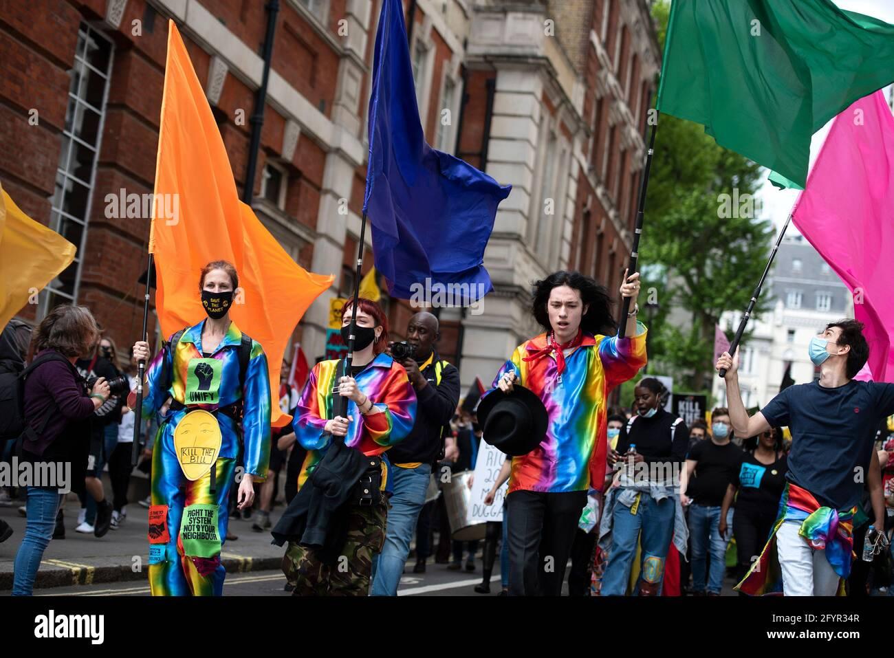 London, UK - 29th May 2021: Kill the Bill IV Protest Credit: Loredana Sangiuliano / Alamy Live News Stock Photo