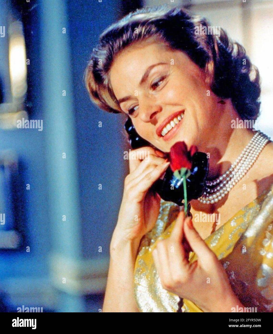 INGRID BERGMAN (1915-1982) Swedish film actress about 1955 Stock Photo