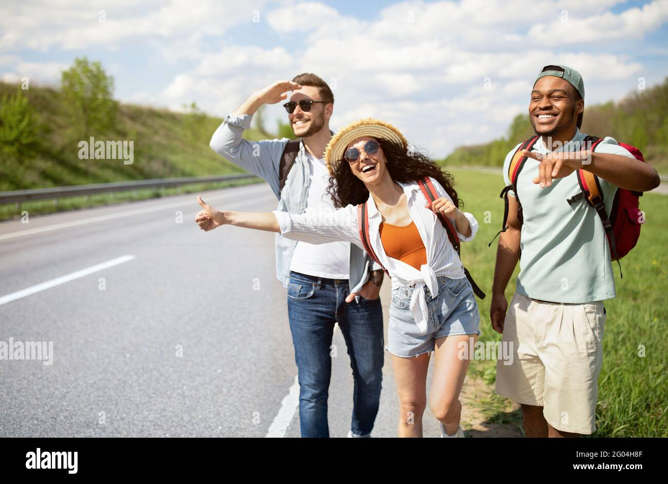 Vacation Hitchhiking High Resolution Stock Photography and Images - Alamy