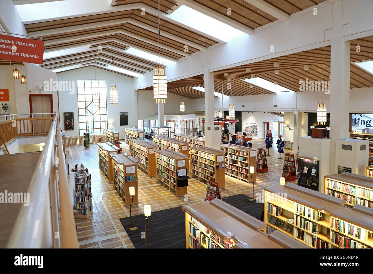 Uppsala city library in the city of Uppsala, Sweden. Stock Photo