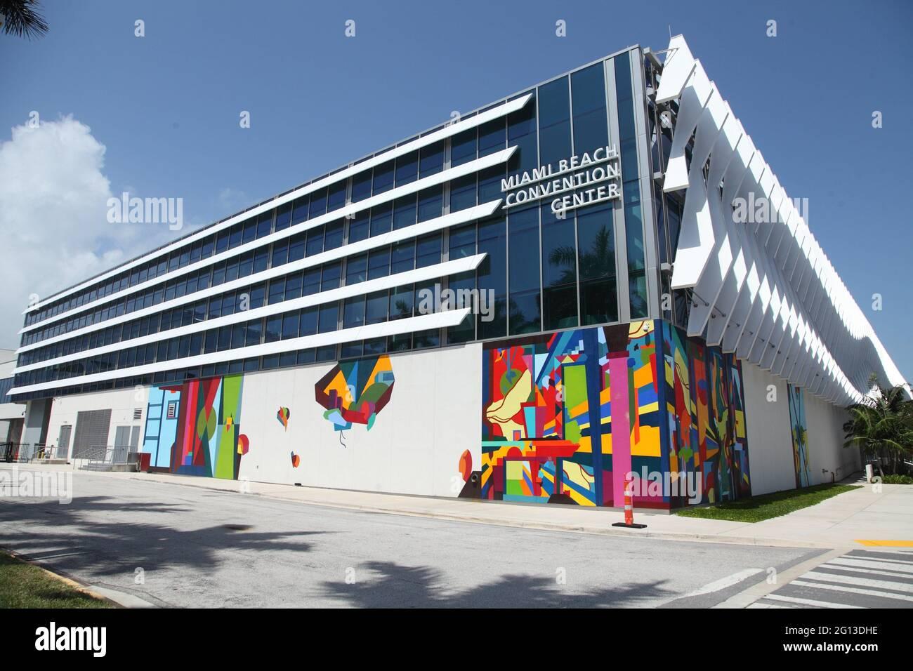 Miami Beach Convention Center in Miami beach, Florida, USA Stock Photo