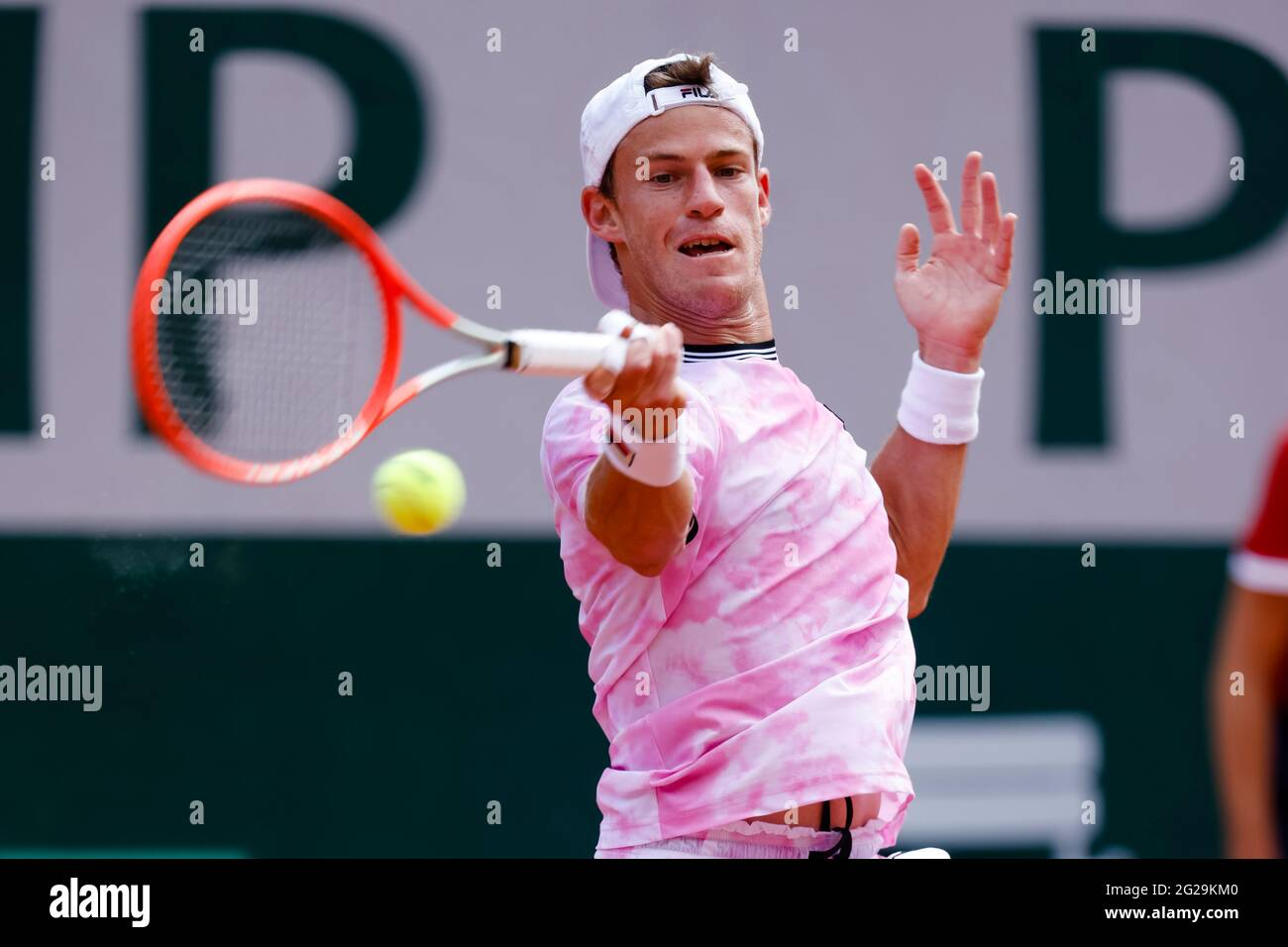 Paris, France. 9th June, 2021. Diego Schwartzmann from Argentina at the 2021 French Open Grand Slam tennis tournament in Roland Garros, Paris, France. Frank Molter/Alamy Live news Stock Photo