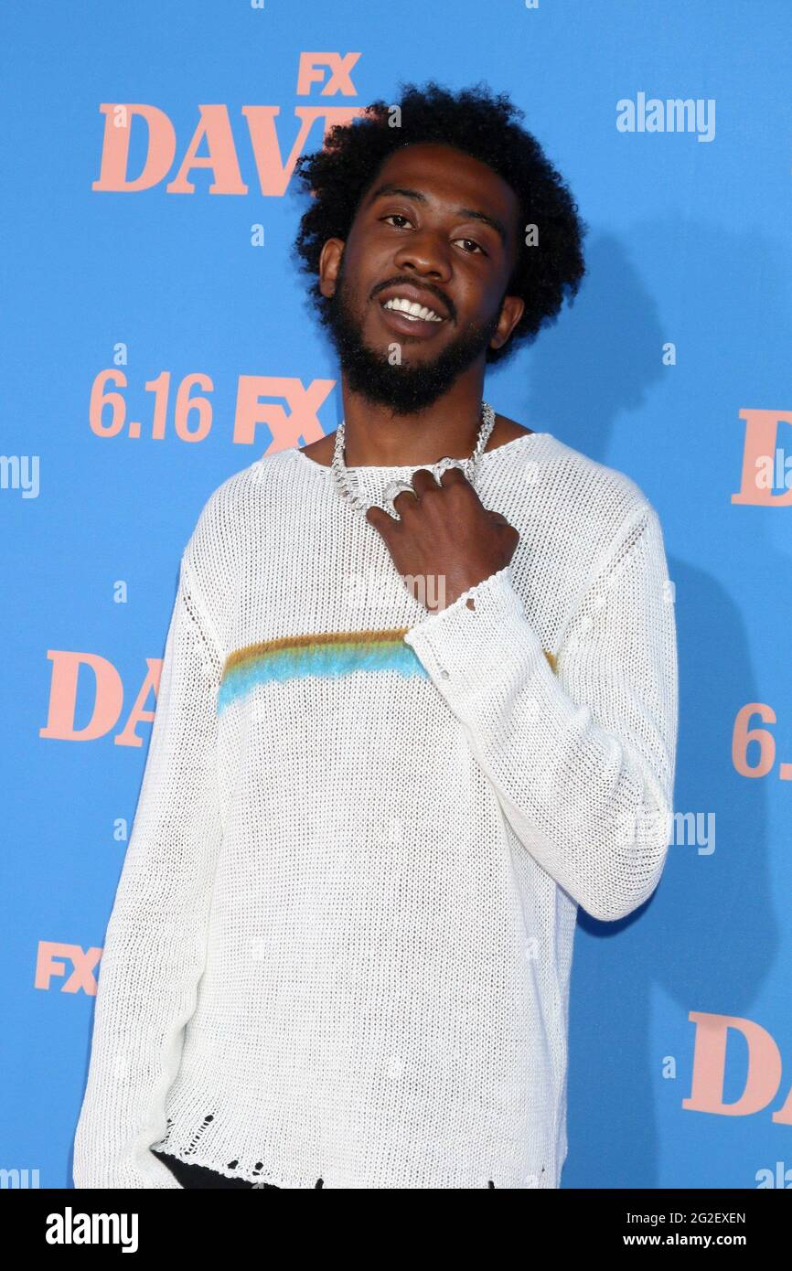 Los Angeles, CA. 10th June, 2021. Desiigner aka Sidney Royel Selby III at arrivals for DAVE Season 2 Premiere on FXX, The Greek Theater, Los Angeles, CA June 10, 2021. Credit: Priscilla Grant/Everett Collection/Alamy Live News Stock Photo