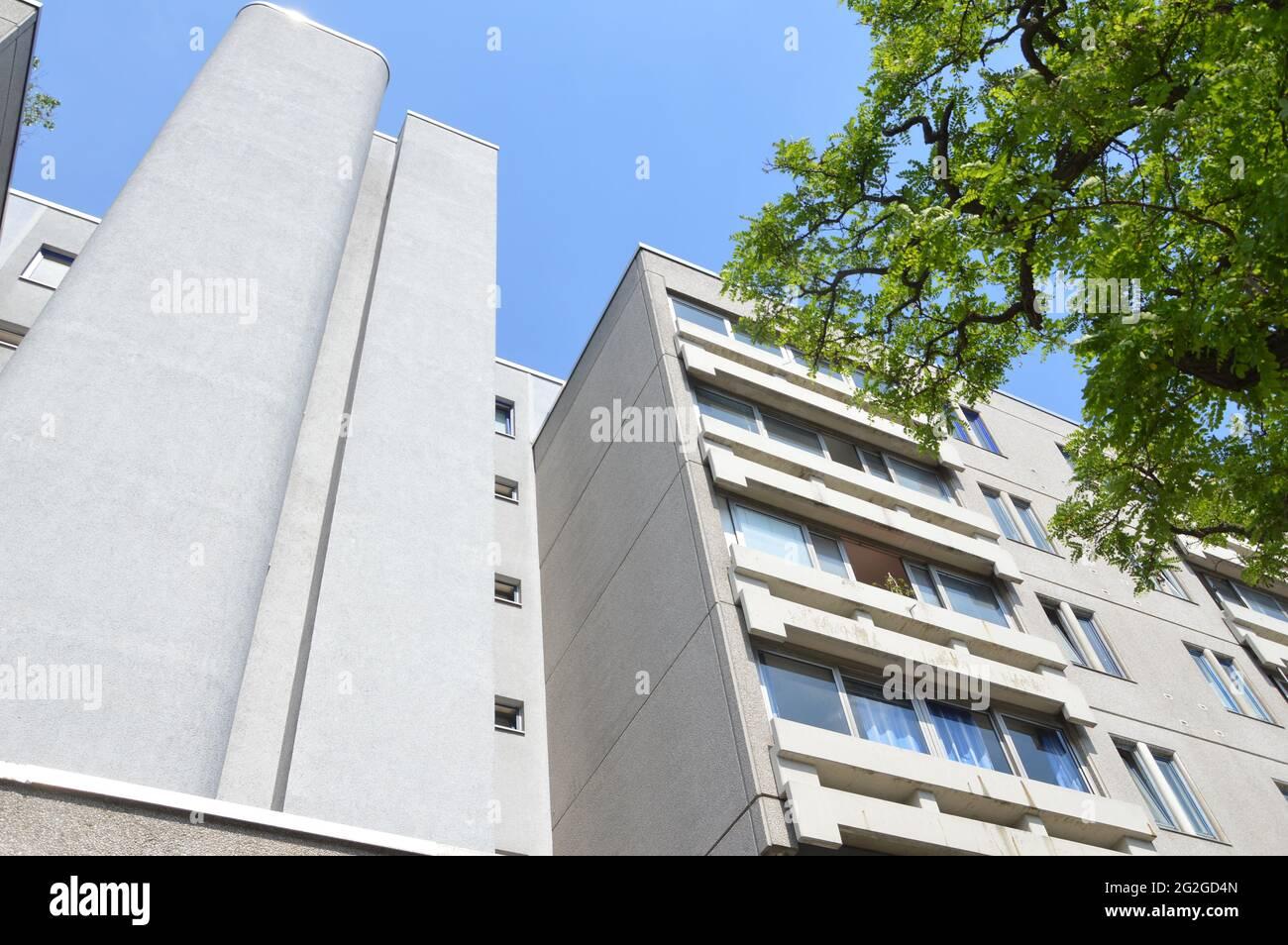 Schöneberger Terassen residential area in Berlin, Germany - 10th June 2021. Stock Photo