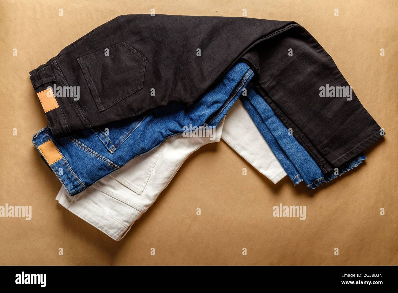Blue jeans color different Hearts Jeans