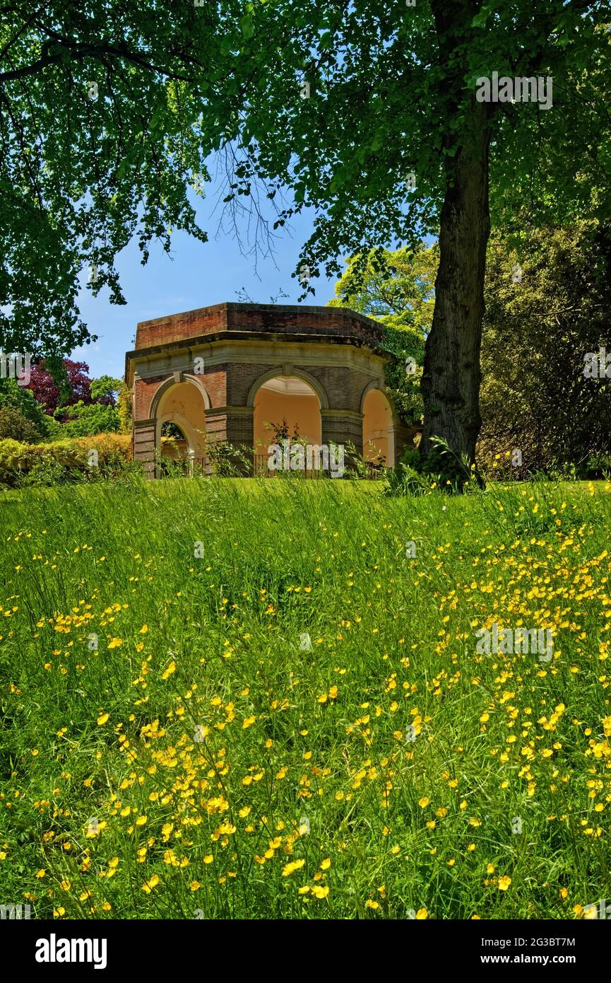 UK, North Yorkshire, Harrogate, Valley Gardens, The Colonnade Stock Photo