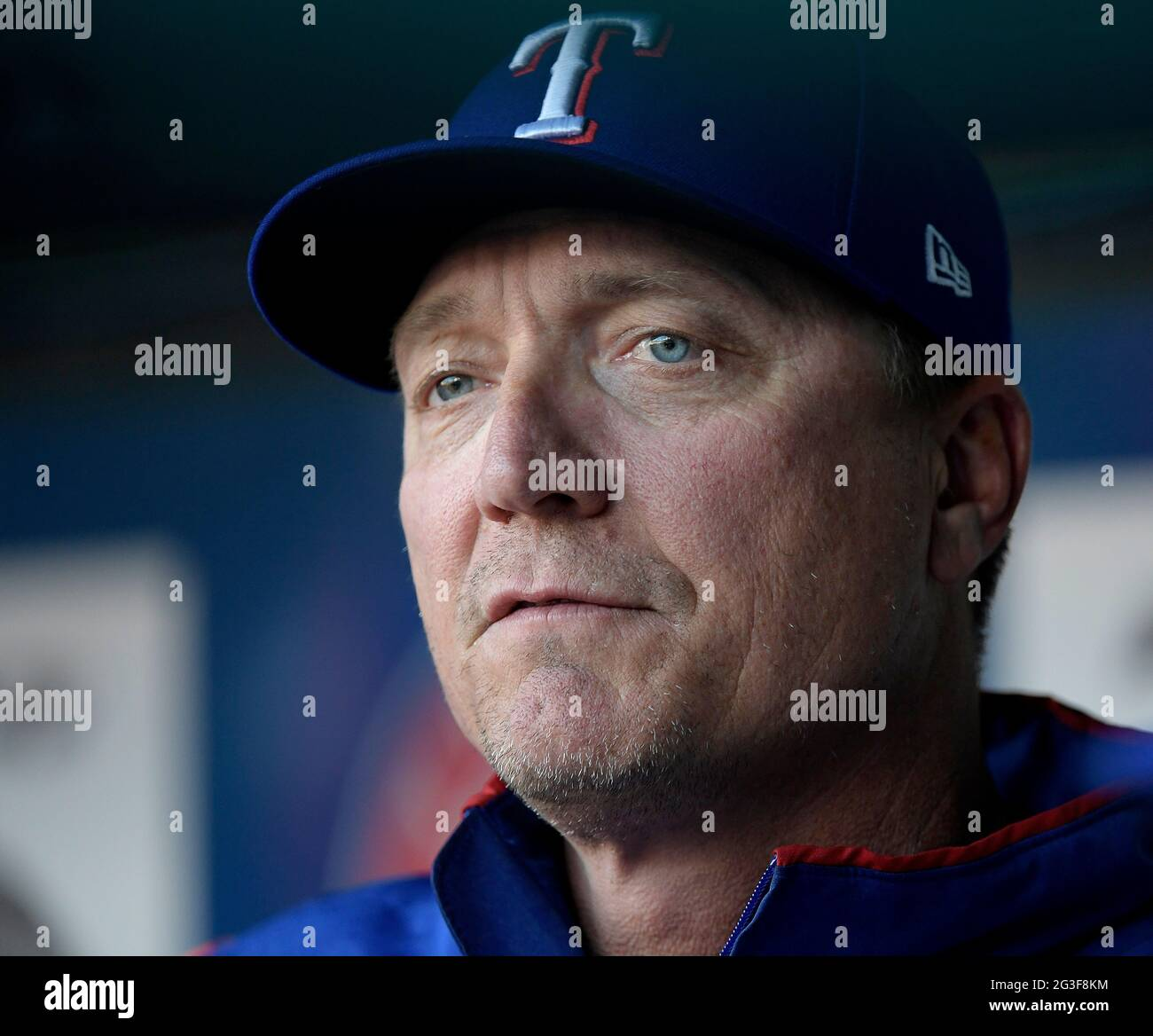Arlington, USA. 20th Apr, 2018. In an April 20, 2018, file image, Texas Rangers manager Jeff Banister is in the dugout at Globe Life Park in Arlington, Texas, against the Seattle Mariners. (Photo by Max Faulkner/Fort Worth Star-Telegram/TNS/Sipa USA) Credit: Sipa USA/Alamy Live News Stock Photo