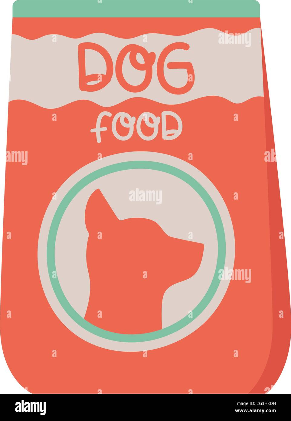 dog food pack Stock Vector