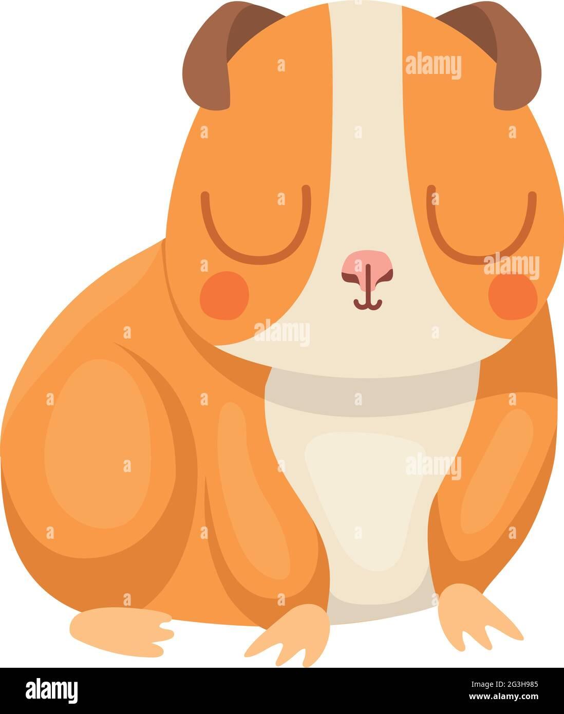 pretty hamster design Stock Vector