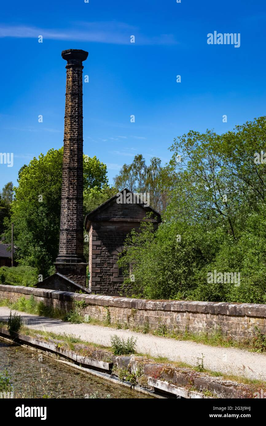 The Leawood Pump House, Cromford Canal near High Peak Junction,Matlock,Derbyshire.England Stock Photo