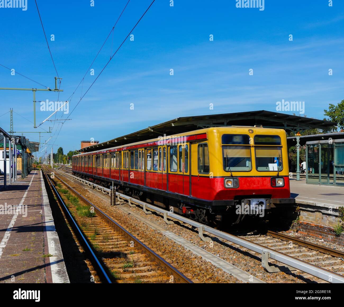 Berlin S-Bahn, Public Transport, Schoeneweide Station Stock Photo