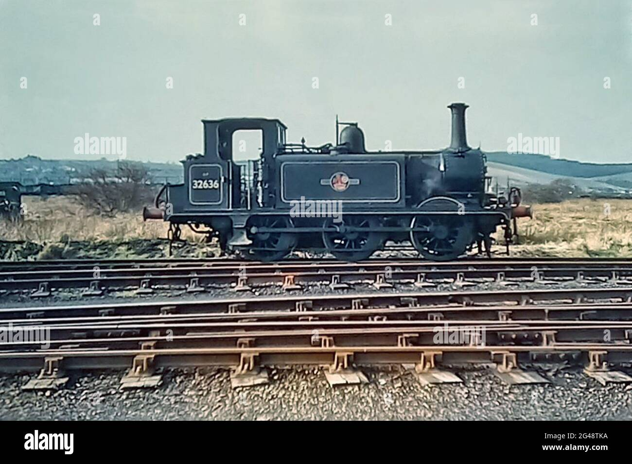 A1X Terrier Class No 32636, Newhaven Goods Yard, Hayling Island, England 4th February 1961 Stock Photo