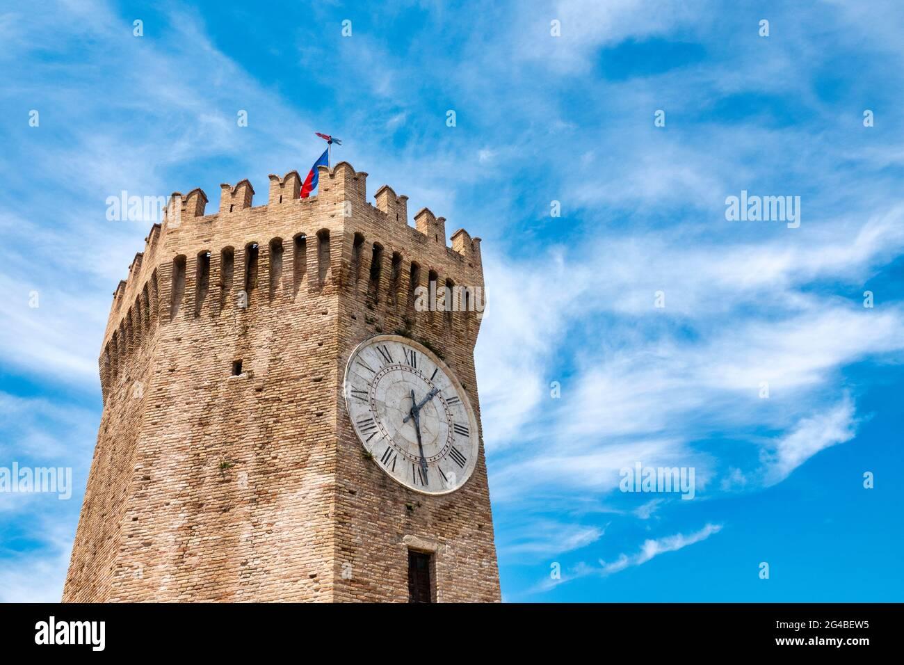 Torre dei Gualtieri in San Benedetto del Tronto, Italy Stock Photo