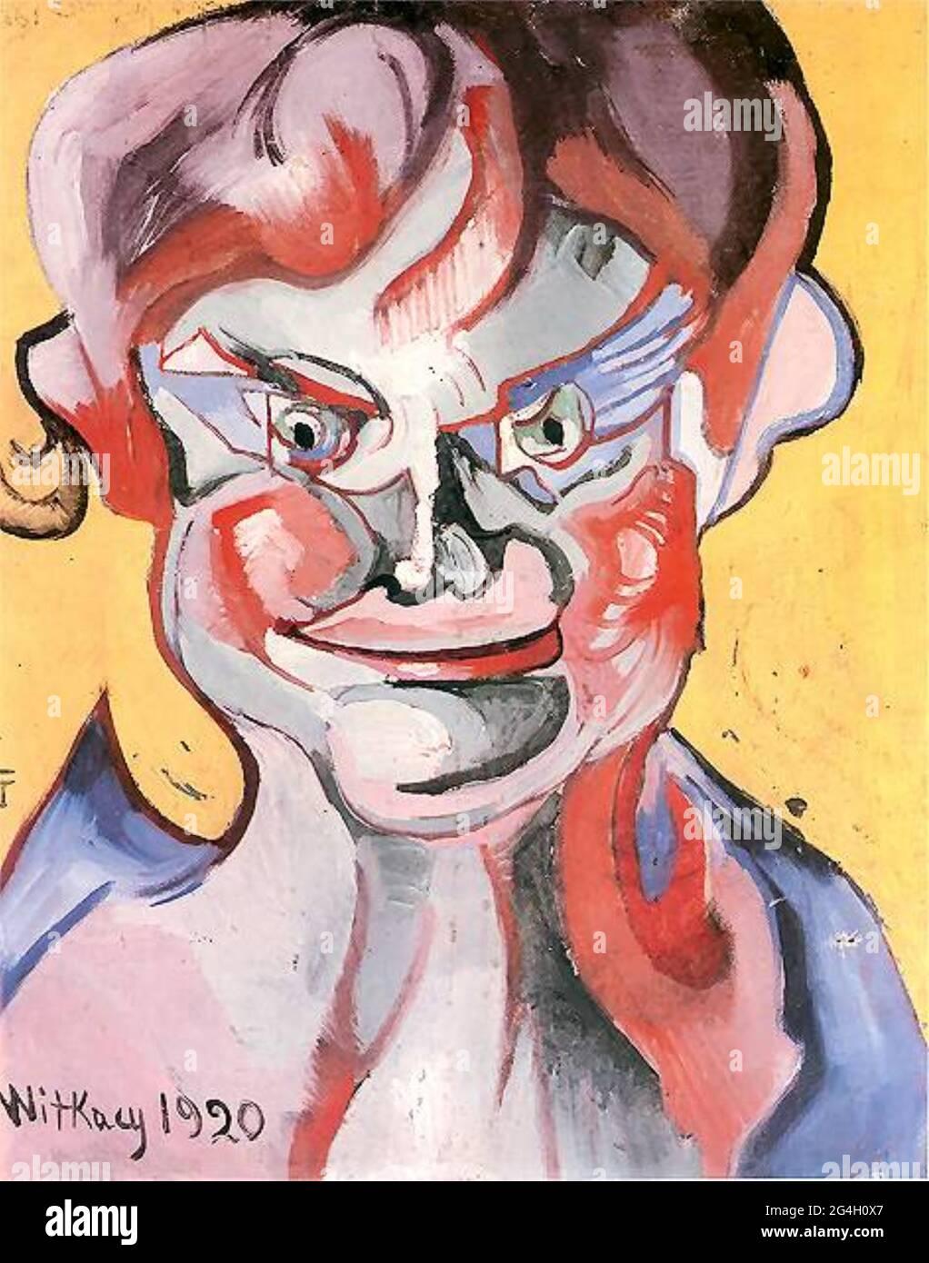 Stanisław Ignacy Witkiewicz artwork entitled Śmiejący Się Chłopiec or Laughing Boy. Stock Photo