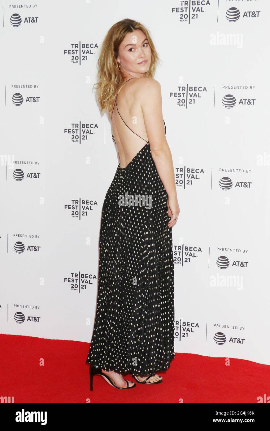 New York, NY, USA. 21st June, 2021. Julia Stiles at the 2021 Tribeca Film Festival premiere of The God Committee at Brooklyn Commons Metrotech in New York City on June 20, 2021 Credit: Rw Media Punch/Alamy Live News Stock Photo