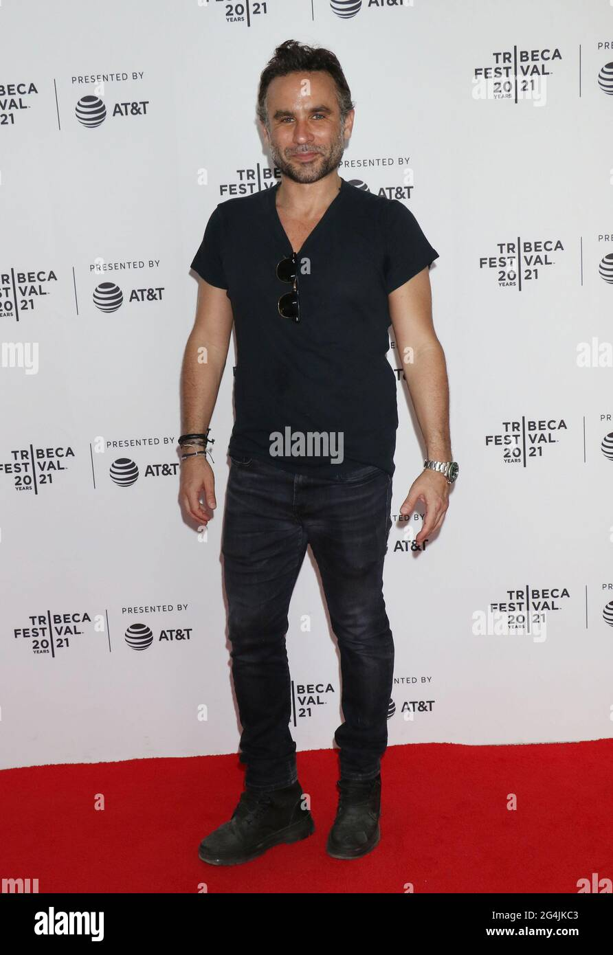 New York, NY, USA. 21st June, 2021. Austin Stark, at the 2021 Tribeca Film Festival premiere of The God Committee at Brooklyn Commons Metrotech in New York City on June 20, 2021 Credit: Rw Media Punch/Alamy Live News Stock Photo