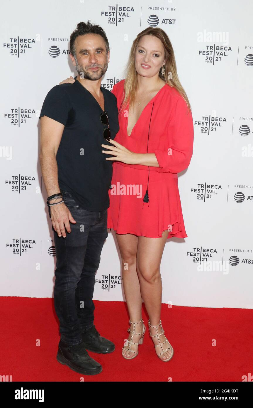 New York, NY, USA. 21st June, 2021. Austin Stark, Daria Pahhota at the 2021 Tribeca Film Festival premiere of The God Committee at Brooklyn Commons Metrotech in New York City on June 20, 2021 Credit: Rw Media Punch/Alamy Live News Stock Photo