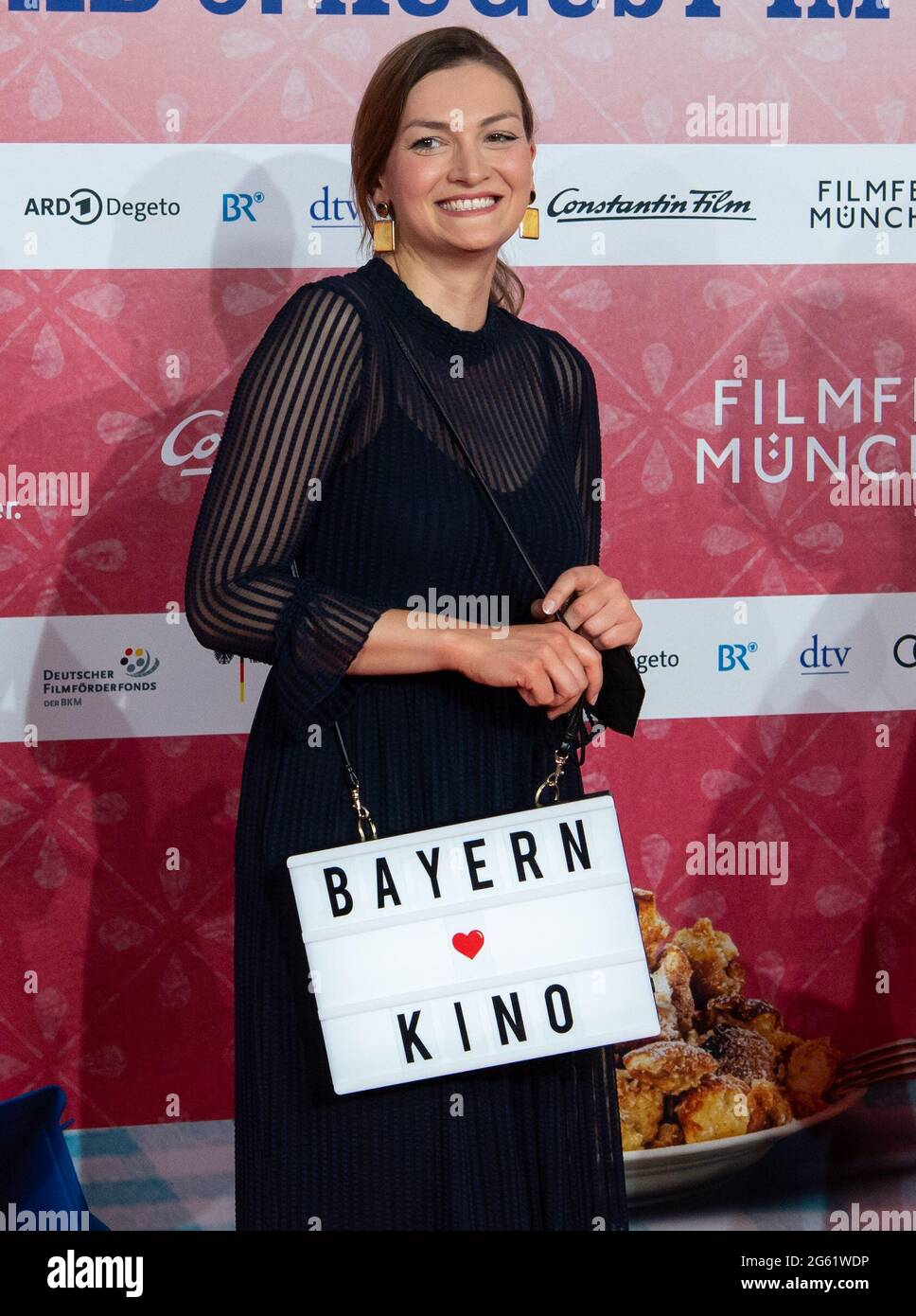 Munich Germany 01st July 2021 Judith Gerlach Csu Bavarian Minister Of Digital Affairs Arrives At The Opening Of The Munich International Film Festival With The Premiere Of The Crime Comedy Kaiserschmarrndrama The