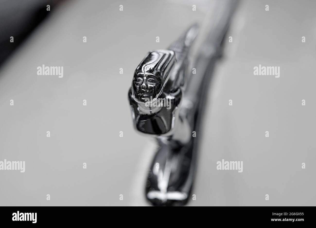 flying lady mascot on an auburn 851 speedster car Stock Photo