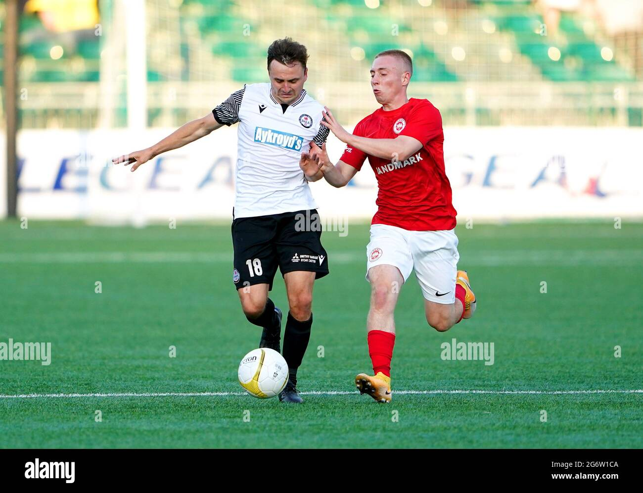 Newsnow aims to be the world's most accurate and comprehensive uefa europa. Bala S Paul Rutherford Left And Larne S Conor Mckendry Battle For The Ball During The Uefa Europa Conference League First Qualifying Round First Leg Match At Park Hall Oswestry Picture Date Thursday July