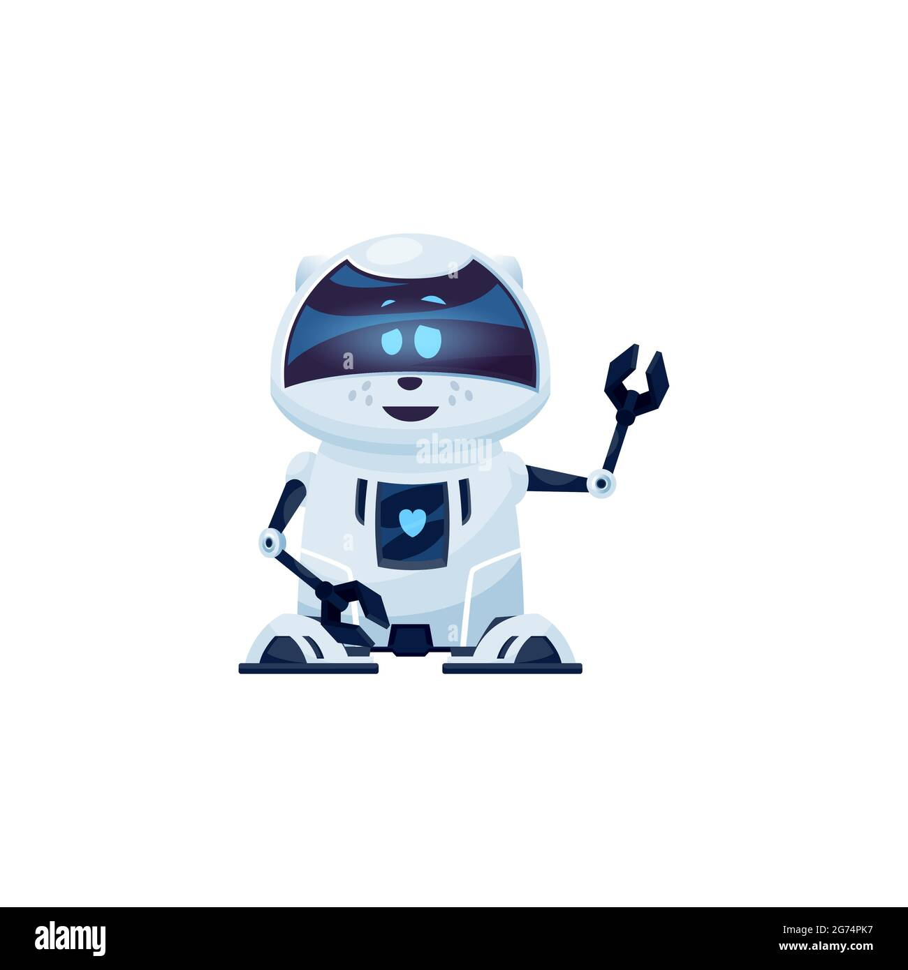 Cartoon robot cat vector cyborg character, toy or bot, artificial ...