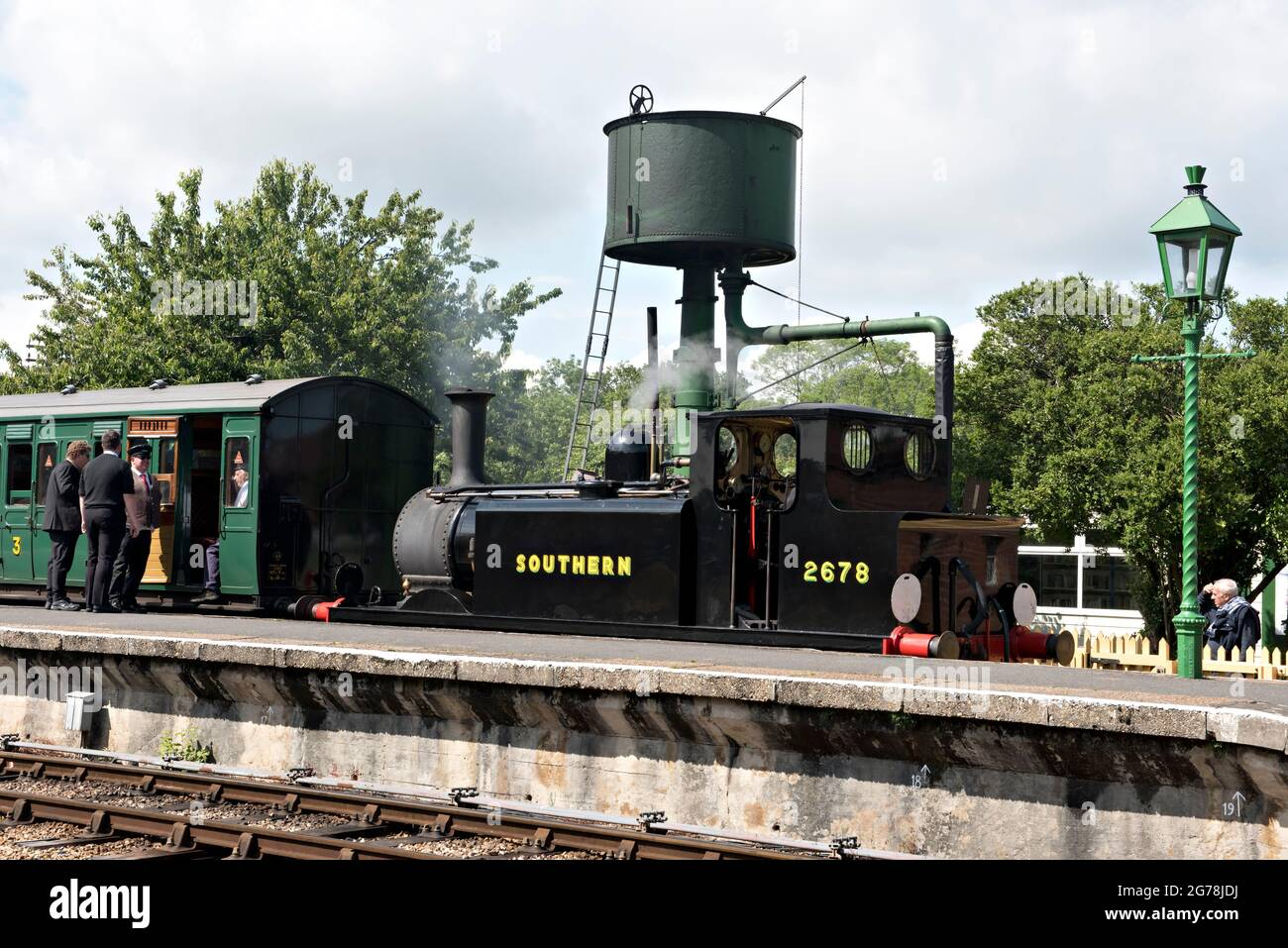 at Havenstreet Station on the Isle of Wight Steam Railway Stock Photo