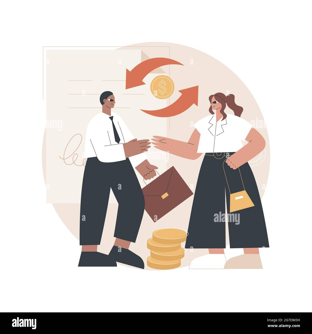 Business-to-business sales abstract concept vector ...