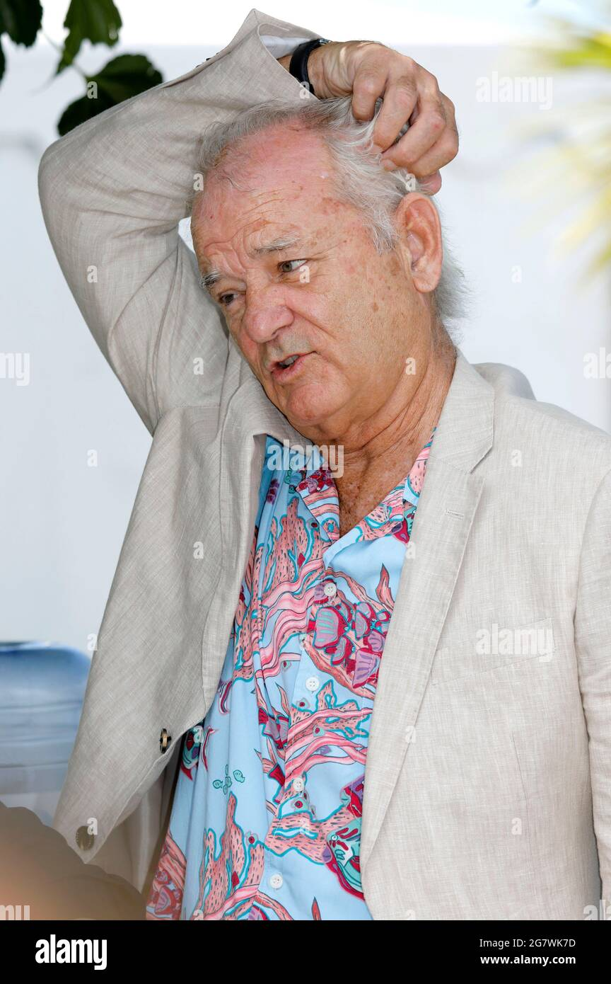 """Cannes, France. 16th July, 2021. Bill Murray attending the """"New Worlds: The Cradle Of Civilization"""" photocall during the 74th annual Cannes Film Festival on July 16, 2021 in Cannes, France. Credit: Geisler-Fotopress GmbH/Alamy Live News Stock Photo"""