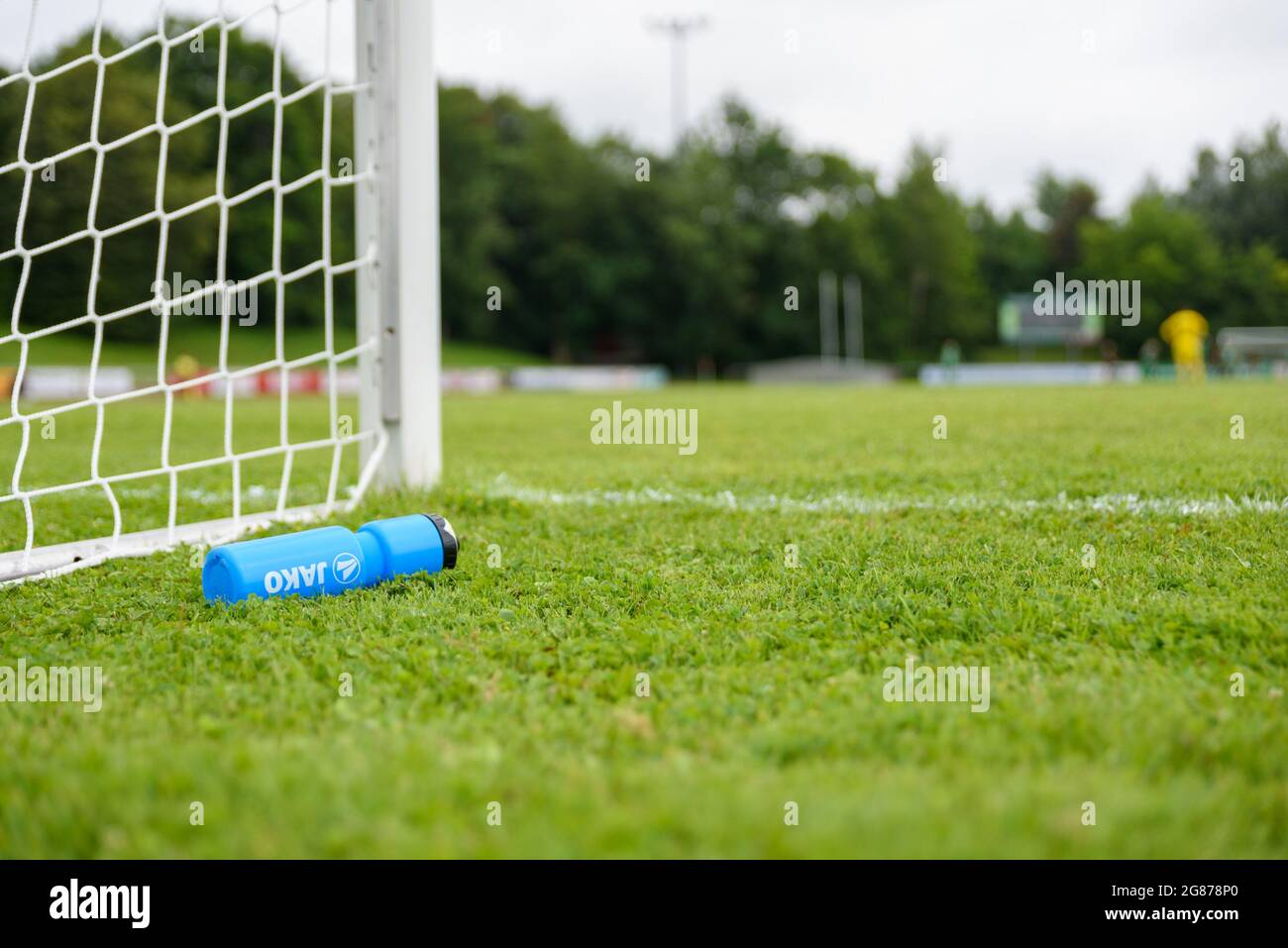 Aschheim, Germany. 20th July, 20. Jako water bottle next to the ...