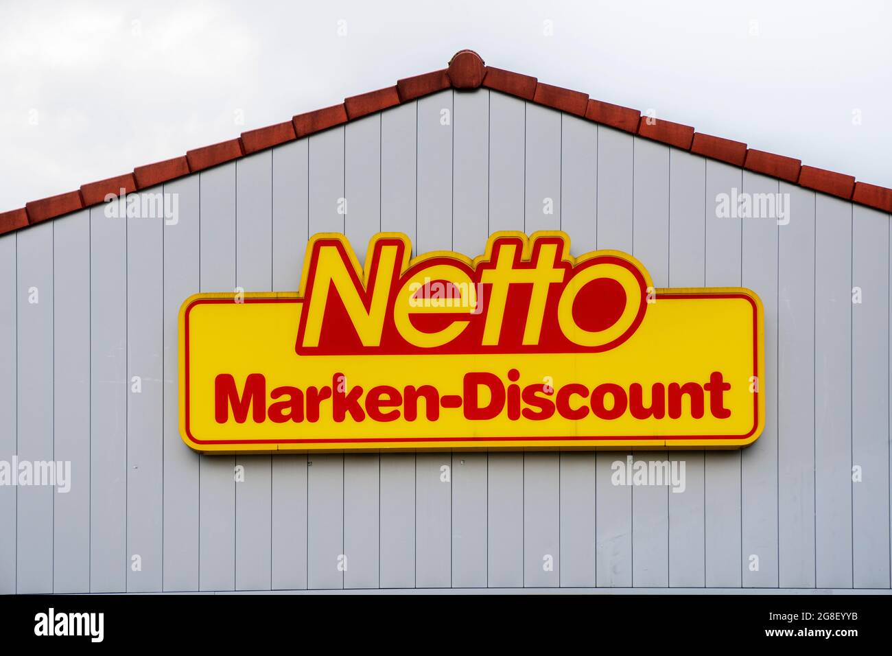Filiale der Firma Netto in Schwabmünchen Stock Photo