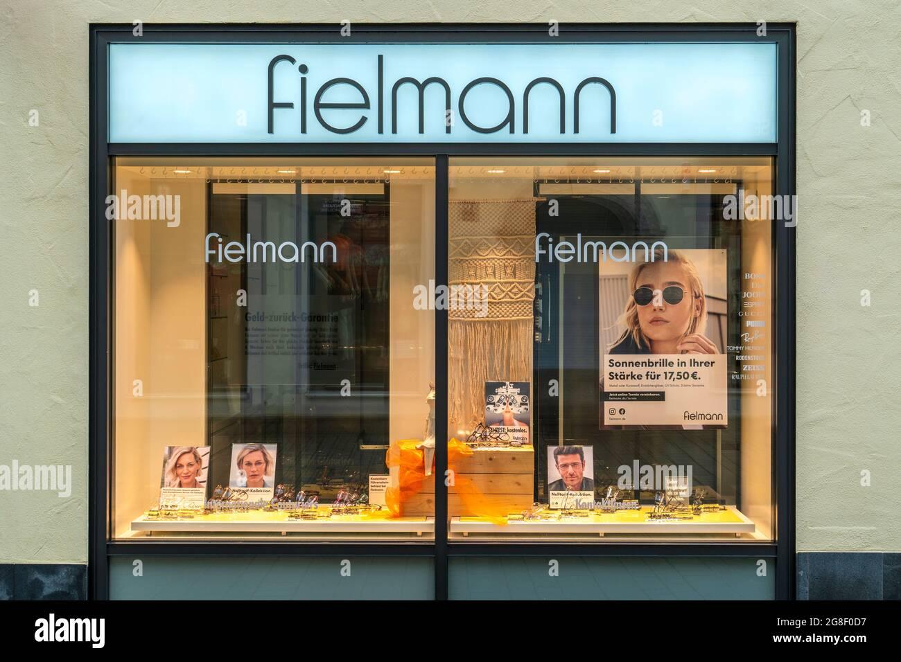 Filiale der Firma Fielmann in Kempten Stock Photo