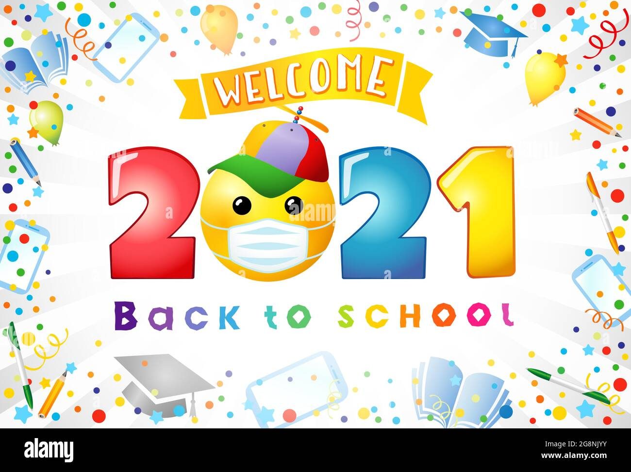 Welcome Smile Stock Vector Images - Alamy