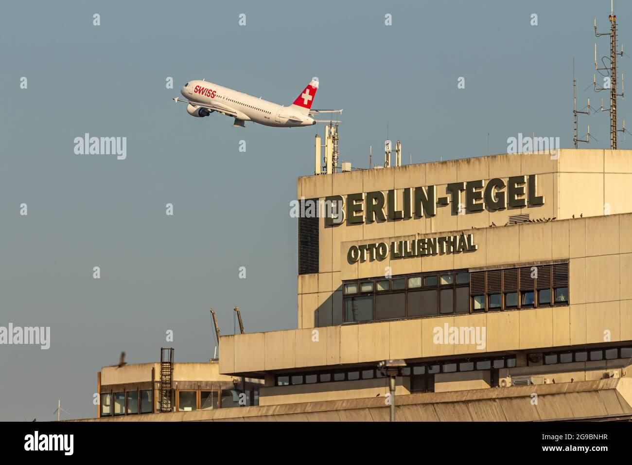 Berlin, Germany - September 15, 2018: Berlin Tegel - Otto Lilienthal Airport Terminal building, TXL, EDDT Stock Photo