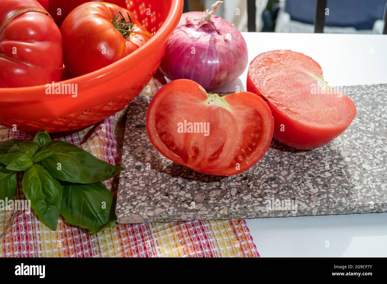 Tasty big ripe french tomatoes from Provence ready to eat in ...