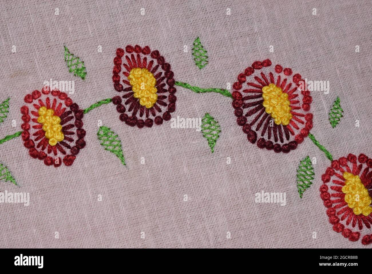 pistil stitch flower, Hand embroidery design of pistil stitch ...