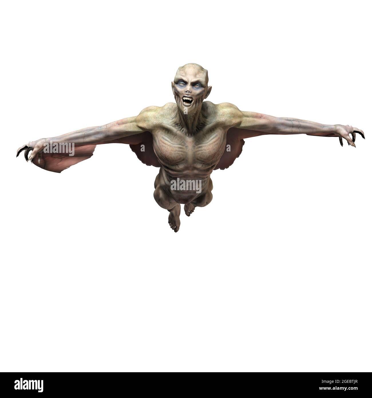 3d-illustration of an isolated dangerous fantasy vampire creature Stock Photo