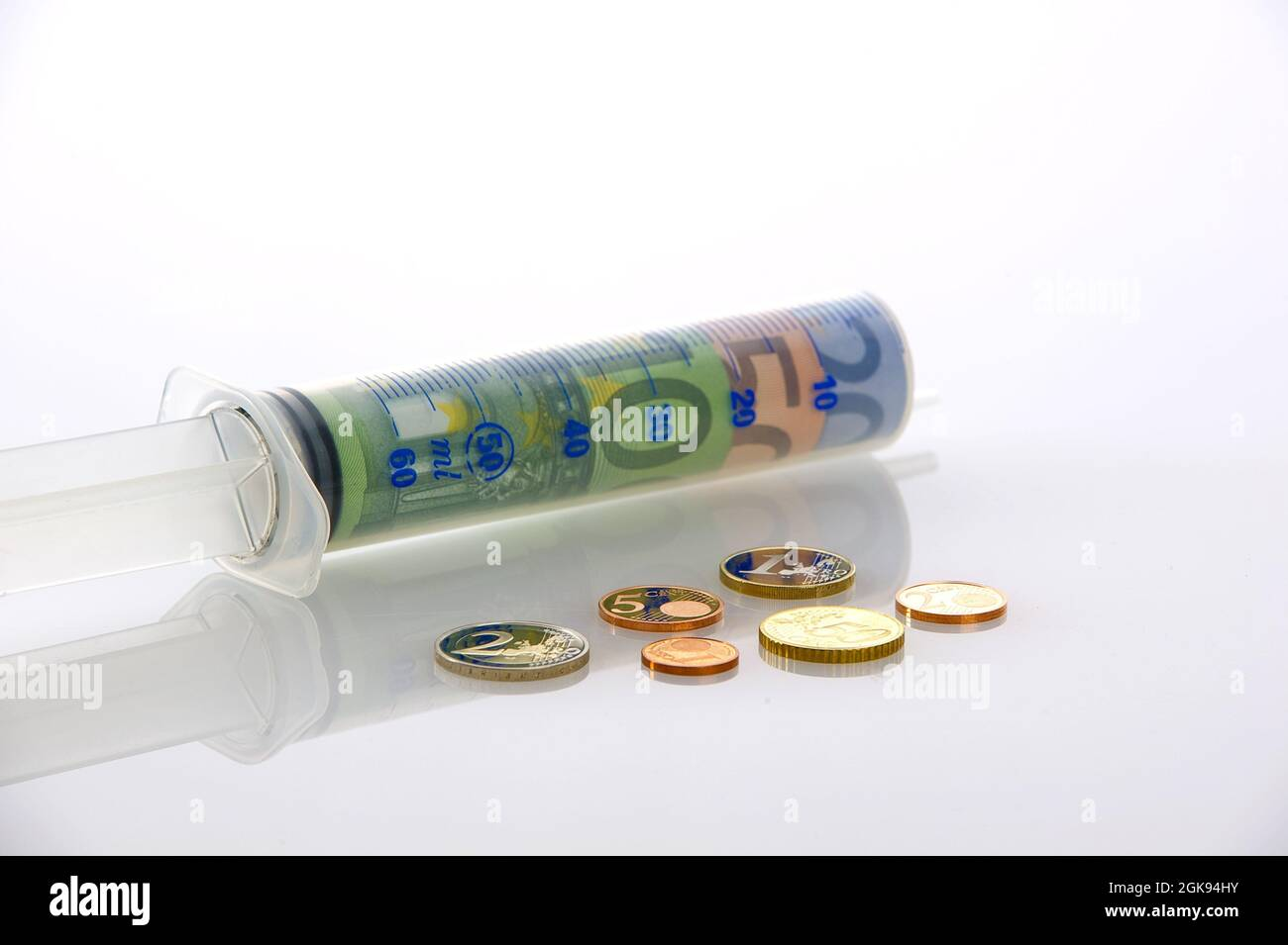 symbol picture costs of public health service Stock Photo
