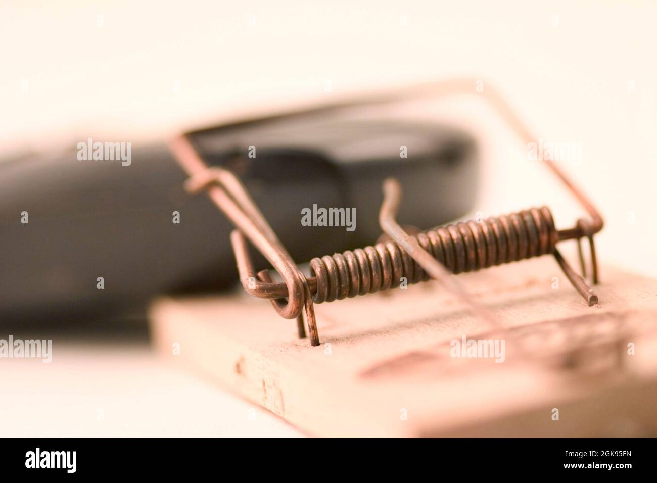 mousetrap and mobile, telephone service Stock Photo