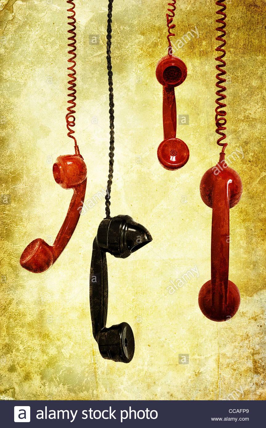 retro phones - Image CCAFP9 © Sean Gladwell / Alamy