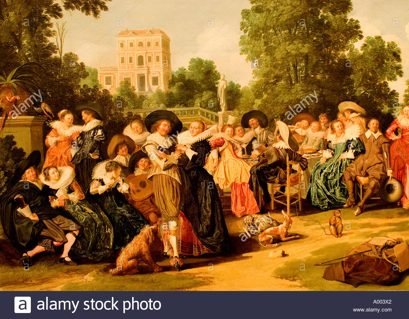Dirk Hals group of merrymakers Mariage wedding Netherlands Dutch Holland - Stock Image