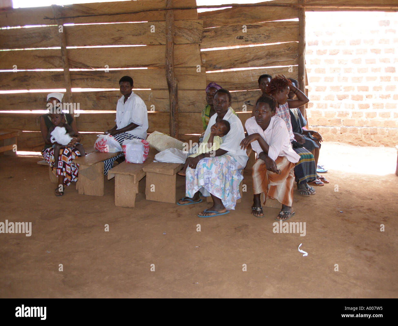 Widows and housewives at a church that helps them with income generating activities - Stock Image