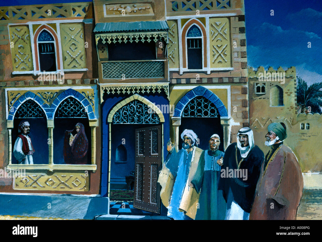 Bedouin Arab Stories From Eastern Tales Stock Photo