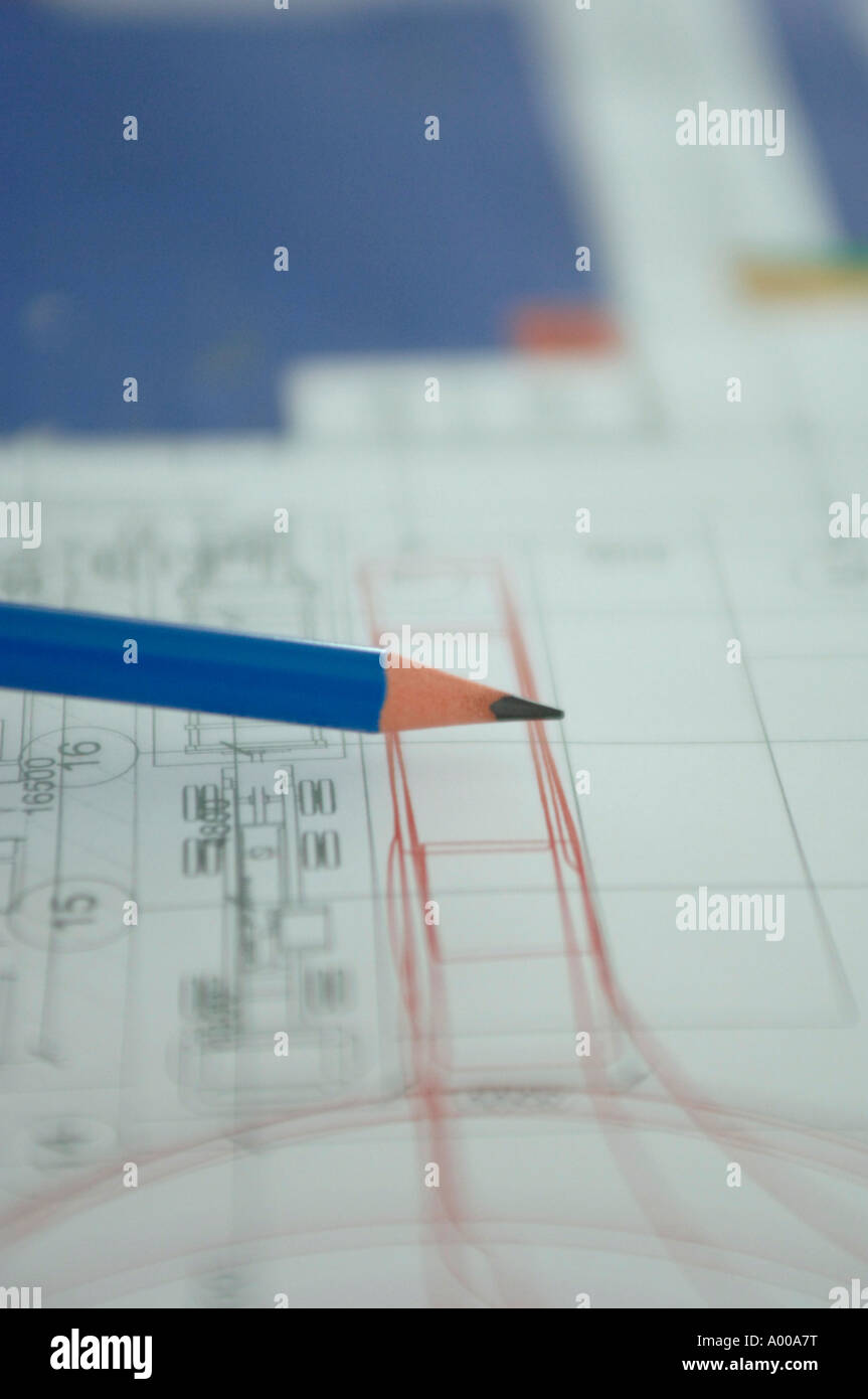 technical drawing - Stock Image