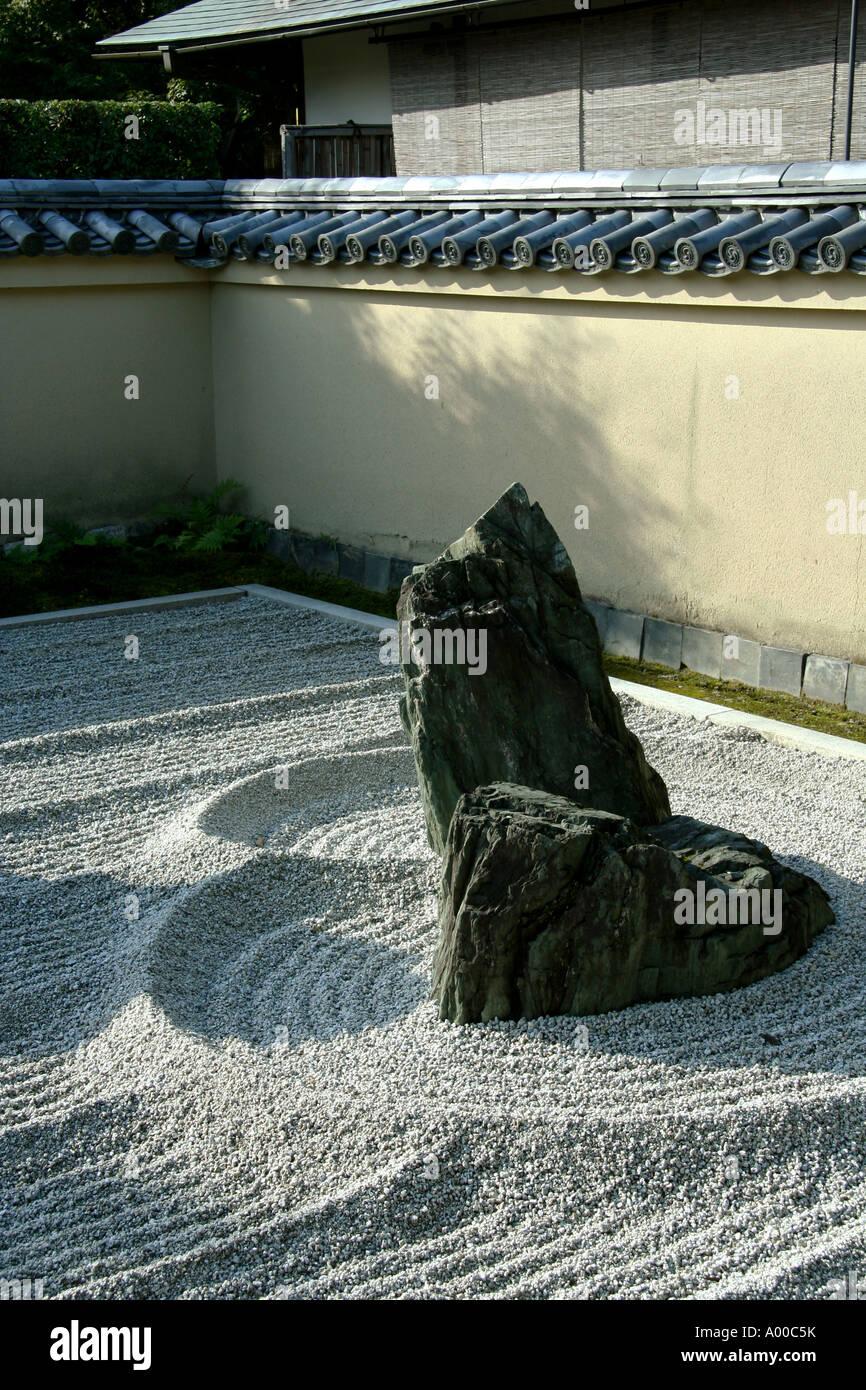 Rock Garden at Ryogen-in, Daitokuji, Kyoto - Stock Image