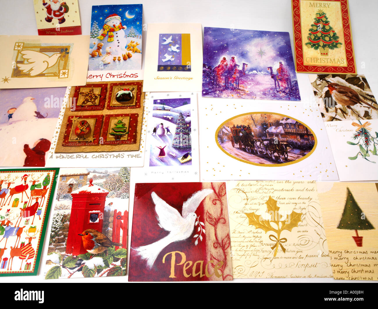Traditional Christmas Cards Stock Photo: 9840640 - Alamy
