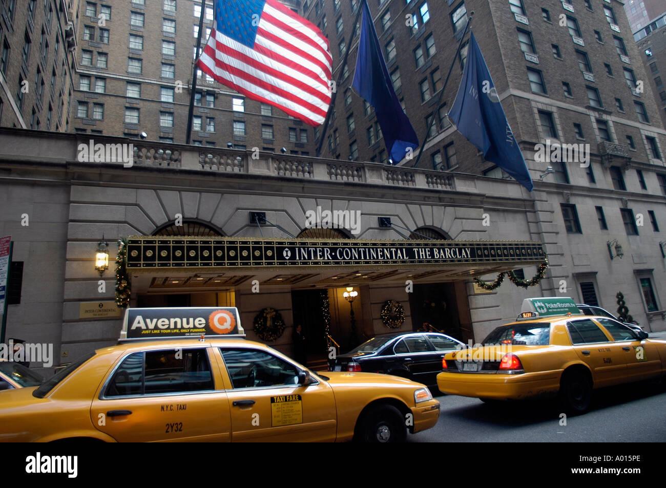 Barclay Intercontinental Hotel In New York City Stock Photo Alamy